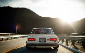 Picture The sun, Auto, Mountains, White, Machine, Light, Nissan, Nissan, Car, 2000, Skyline, Nissan Skyline, 2000GT, …