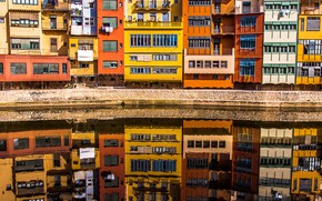 Picture Home, Reflection, The building, Spain, Spain, Girona, Girona