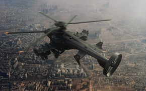 Picture the city, helicopter, Military helicopter