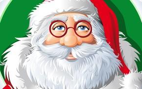 Picture Glasses, Christmas, Costume, Eyes, Background, New year, Santa, Holiday, Santa Claus, Klaus, Santa Claus, Grandpa, …