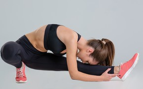 Picture girl, fitness, elongation