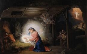 Picture religious painting, Christmas, Borovikovsky, V. L., Nov. Ierusalim