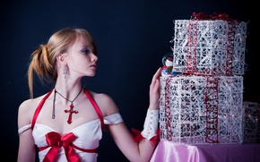 Picture sweetheart, model, cross, beautiful, Olesya Kharitonova, Olesya Kharitonova