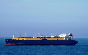 Wallpaper sea, ship, the sky