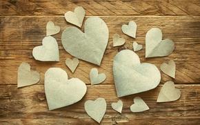 Wallpaper romantic, hearts, hearts, Valentine's Day, love, wood