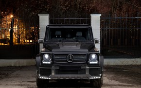 Picture Mercedes, Front, AMG, Black, G63, Brick
