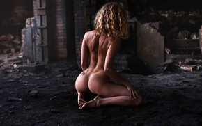 Wallpaper ass, pose, model, naked, figure, sitting, ass, sexy, Laurent KC, LKC