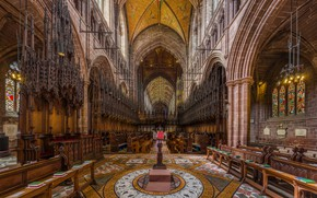 Picture interior, Cheshire, UK, Diliff, organ, Chester Cathedral Choir