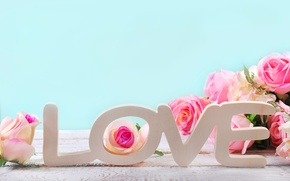 Wallpaper heart, love, roses, pastel, pink, romantic, roses, hearts, petals, pink roses, flowers