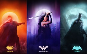 Picture BATMAN, WONDER WOMAN, SUPERMAN, JUSTICE LEAGUE