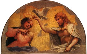Picture Maria, white dove, The adoration of the Magi, Antonio Allegri Correggio, high Renaissance, Italian painting, …