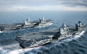 "Picture UK, HMS Prince of Wales, Queen Elizabeth class carriers, The carriers of the ""Queen Elizabeth"", …"