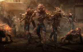 Picture hell, demons, Zahid Raza Khan, creatures, Zombie attack