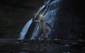 Picture girl, waterfall, the devil, Aleah Michele, A thing of horror or pity