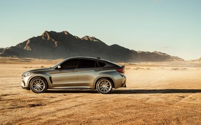 Picture road, landscape, mountains, design, desert, BMW X6M