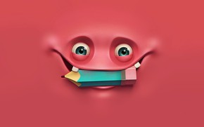 Picture eyes, rendering, emotions, happy, happy