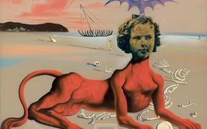 Wallpaper surrealism, picture, Salvador Dali, Salvador Dali, Portrait Of Shirley Temple