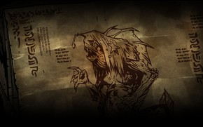 Picture woman, Mermaid, Darkest dungeon