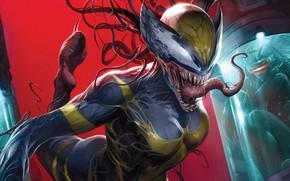 Picture Girl, Language, Girl, Teeth, Costume, Comic, X-Men, Marvel, Comics, Venom, Venom, Symbiote, X-23, Marvel, Comics, …
