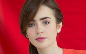 Picture look, face, model, actress, Lily Collins, Lily Collins