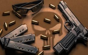 Wallpaper gun, custom, M1911 pistol, weapon, custom, M1911, Night Hawk, Glasses, gun, Night hawk, glasses, weapons