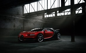 Wallpaper Bugatti, Dark, Black, VAG, Chiron, RED
