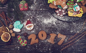 Picture holiday, new year, cookies, treats