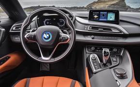 Picture Roadster, the wheel, salon, 2018, BMW i8