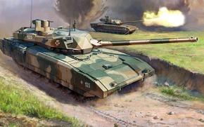 Picture main battle tank, Armata, T-14, the latest Russian tank