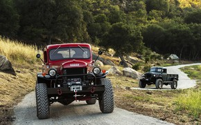 Wallpaper Red, Dodge Power Wagon, Road, Trucks