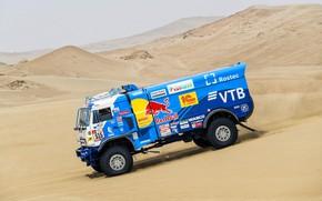 Picture Sand, Truck, Race, Master, Hills, Russia, Kamaz, Rally, Dakar, Dakar, Rally, KAMAZ, The roads, RedBull, …