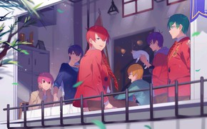 Picture anime, art, guys, costumes, Osomatsu-san