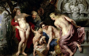 Wallpaper Of gersa and Pandroa Open Cart with Erichthonius, Pieter Paul Rubens, mythology, Peter Paul Rubens, ...