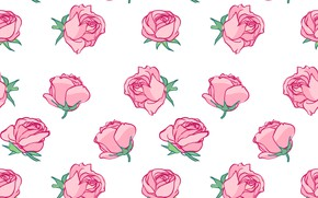 Picture background, roses, texture, buds