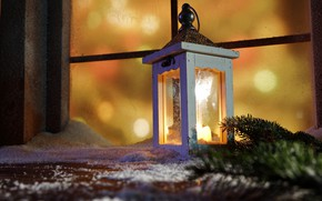 Picture winter, snow, decoration, New Year, window, Christmas, lantern, Christmas, winter, snow, window, Merry Christmas, Xmas, …