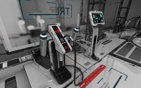 Picture management, equipment, equipment, levers, Sci-fi Lab