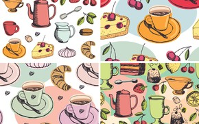 Picture background, texture, dishes, dessert, vector art