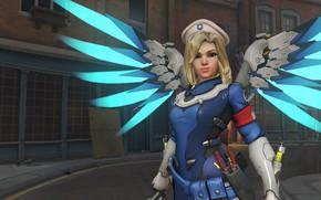 Picture wings, OVERWATCH, Mercy Combat Medic Ziegler Character Skin