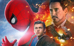 Picture Iron Man, Marvel Comics, Movie, Tom Holland, Spider-Man: Homecoming, Spider-man: the Return Home