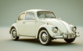 Wallpaper art, Raoni Nery, The Beetle, Volkswagen Beetle, machine
