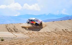 Picture Sand, Sport, Desert, Speed, Race, Dirt, Peugeot, Lights, Red Bull, Rally, Dakar, Dakar, Rally, Sport, …