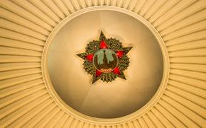 Wallpaper yellow, red, star, lighting, USSR, lamp, emblem, red, history, Soviet