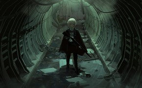 Picture weapons, anime, art, the tunnel, guy, faiz azhar