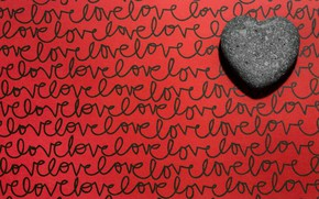 Picture labels, background, heart