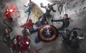 Picture vision, captain america, spider man, iron man, black widow, war machine, captain america: civil war, …