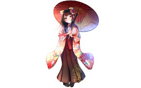 Picture anime, girl, yukata