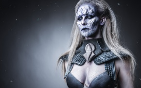 Picture Game of Thrones, make up, female white walker