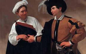 Picture portrait, picture, Caravaggio, genre, Michelangelo Merisi da Caravaggio, The fortune teller