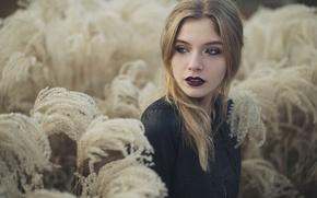 Picture look, girl, dark lipstick