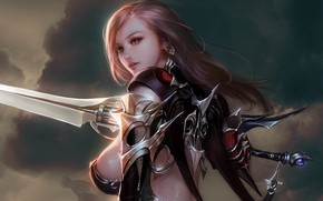 """Picture sword, art, fantasy, warrior, Title """"Giantica"""", Don't stay ., fragmentu weapons"""